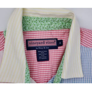 Vineyard Vines Button Front Shirt Size 4 Nautical